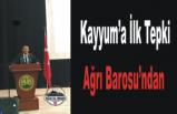 Ağrı Barosu ''B.Başkanları Derhal İade Edilmelidir''