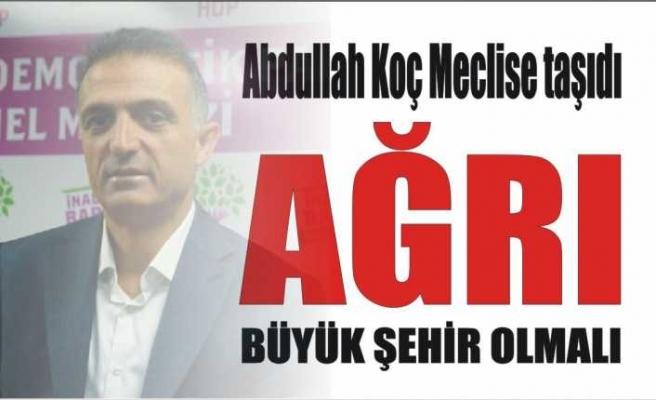 HDPli Koç Meclise Sundu ''Ağrı Büyükşehir Olmalıdır''
