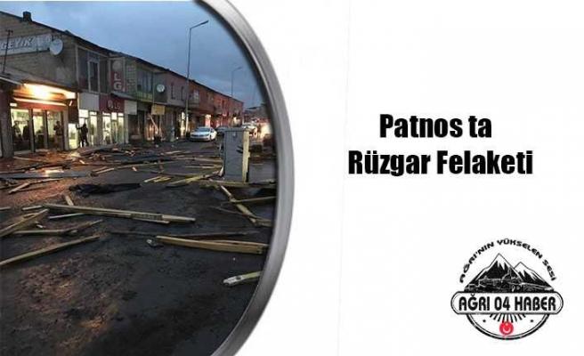 Patnos'ta Rüzgar Hasara Neden Oldu