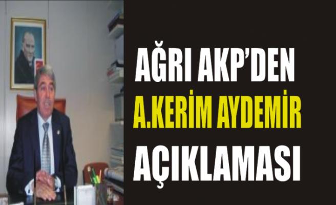 Ağrı AKP'sen İstifa Açıklaması
