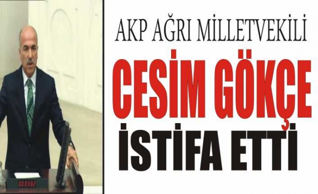 Ağrı AKP Milletvekili İstifa Etti