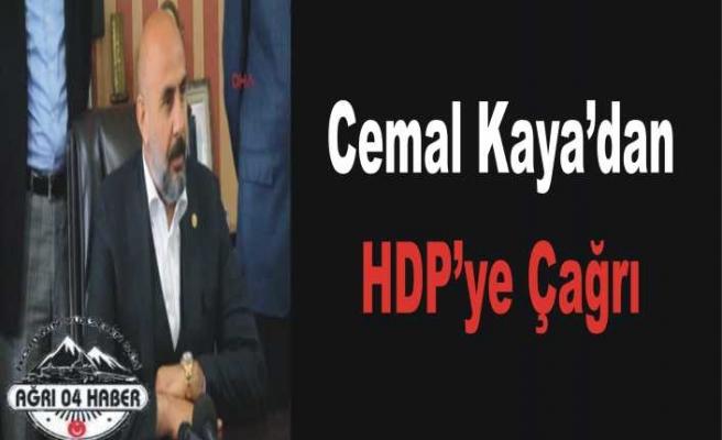 Cemal Kaya'dan HDP ye Acil Çağrı