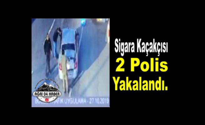 Ağrı da Kaçakçılık Yapan 2 Polis Yakalandı.