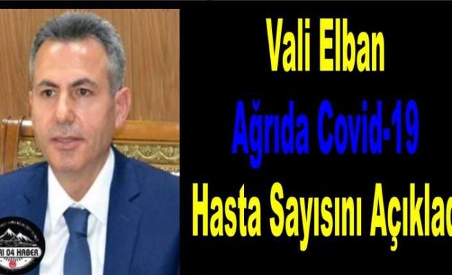Vali Elban Ağrıda Corona Virüs Hasta Sayısını Açıkladı