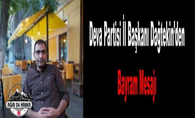 Murat Dağtekin Bayram Mesajı Yayımladı