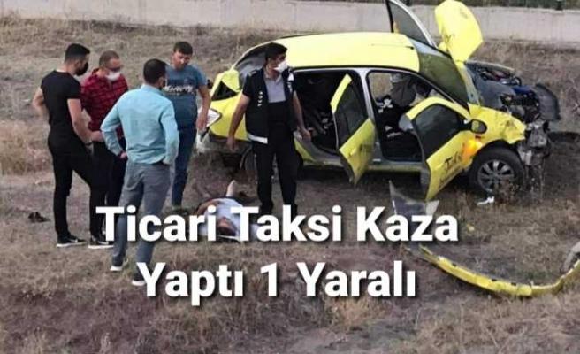 Ağrı da Ticari Taksi  Kaza Yaptı