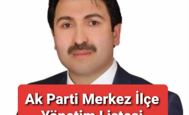 Ağrı Ak Parti Merkez İlçe Yönetim Kurulu Listesi