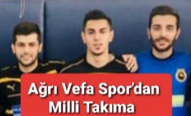 Ağrı Vefa Spor Milli Futbol Takımına Oyuncu Verdi