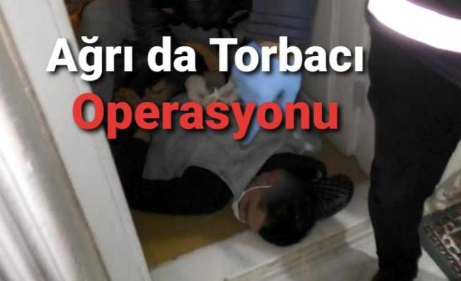 Ağrı da Torbacı Operasyonu,4 Kişi Tutuklandı