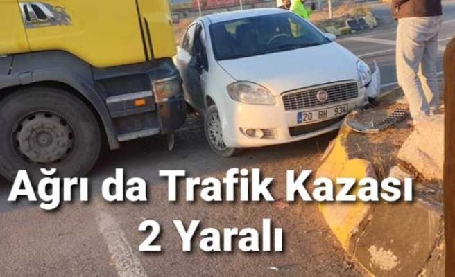 Ağrı da Trafik Kazası 2 Yaralı
