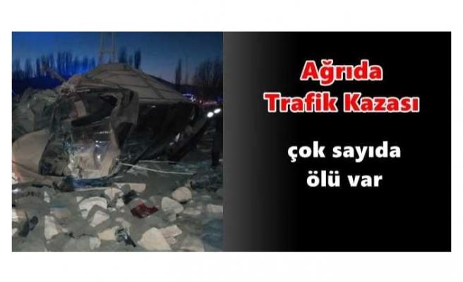 Ağrı da Güvenlik Güçlerinden Kaçan Araç Kaza Yaptı Çok Sayıda Ölü Var
