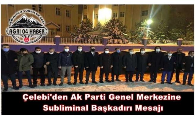 Ekrem Çelebi Ak Parti Genel Merkezine Resti Çekti