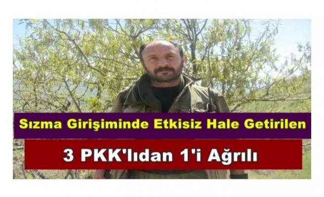 MBS'nin Etkisiz Hale Getirdiğini Duyurduğu 3 PKK'lıdan 1'i Ağrılı