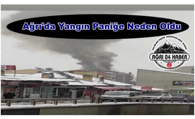 Ağrı'da Yangın Panik Yarattı