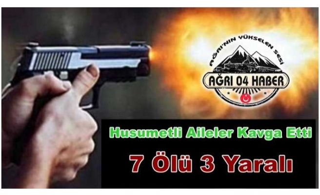 İki Ailenin Kavgasında Silahlar Çekildi 7 Ölü