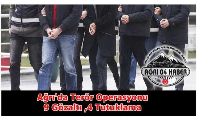 Ağrı'da Terör Operasyonu 4 Tutuklama