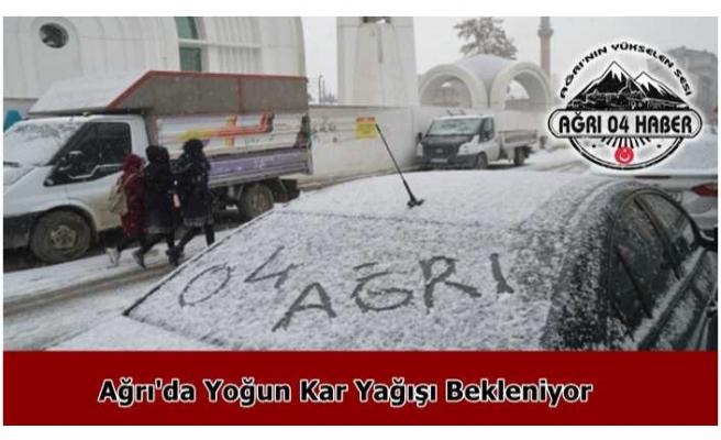 Ağrı'ya Kar Uyarısı