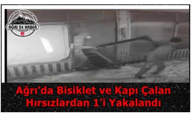 Ağrı'da Bisiklet ve Kapı Çalan Hırsızlardan 1'i Yakalandı
