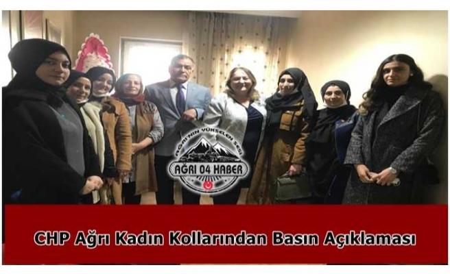 CHP Kadın Kolları Ağrı İl Başkanlığından Basın Açıklaması