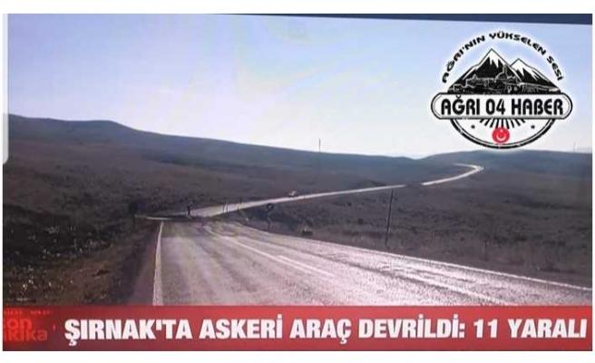 Şırnak'ta Askeri Araç Devrildi 11 Yaralı
