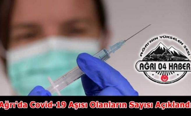 Ağrı'da Kaç Kişi Covid-19 Aşısı Oldu