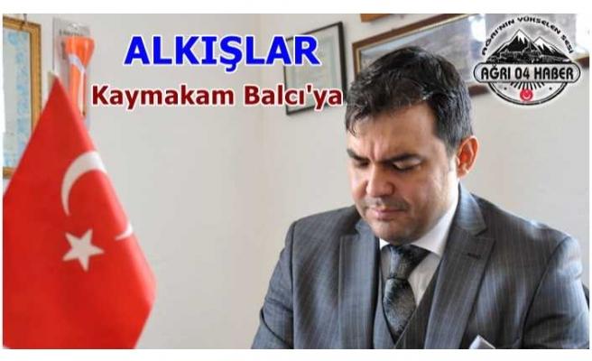 Alkışlar Kaymakam Alper Balcı'ya