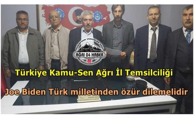 Erhan Kılıç; Joe Biden Türk milletinden özür dilemelidir