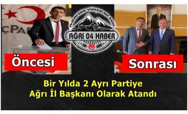 Ağrı'da 9 Ay Arayla 2 Parti 1 Başkan