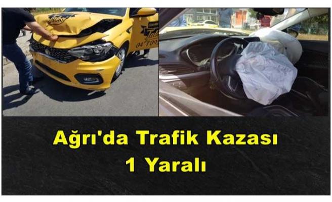 Ağrı'da Trafik Kazası 1 Yaralı