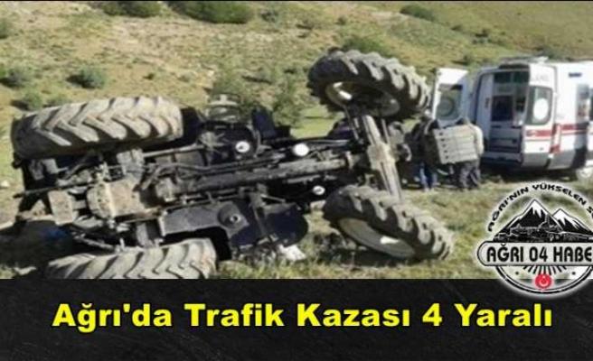 Ağrı'da Trafik Kazası 4 Yaralı
