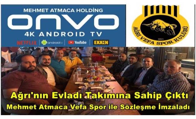 Ağrı Vefa Spor,Onvo ile sponsorluk anlaşması imzaladı