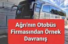 Ağrı'nın Otobüs Firmasından İzmir'e Dostluk Eli