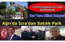 Çelebi'den Müjdeli Haber ''Osmanlı Parkı İcra'dan Satışa Çıkarıldı