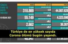 Türkiye''de En Yüksek Sayıda Korona Ölümü Bugün Yaşandı