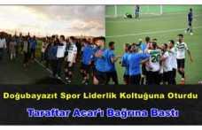 Doğubayazıt  Belediye Spor Liderlik Koltuğuna Oturdu