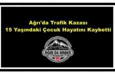 Ağrı'da Trafik Kazası 1 Ölü