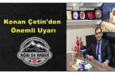 Kenan Çetin'den Önemli Uyarı