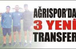 Ağrı Spor da 3 Yeni Transfer