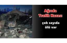 Ağrı da Güvenlik Güçlerinden Kaçan Araç Kaza...