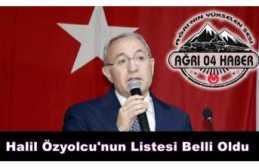 Halil Özyolcu'nun Listesi Sızdı ''işte...