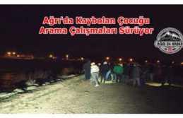 Ağrı'da Kaybolan Çocuk Murat Nehrinde Aranıyor