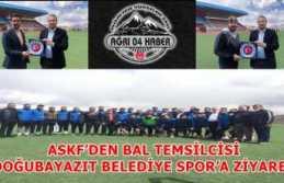 ASKF'DEN BAL TEMSİLCİSİ DOĞUBAYAZIT BELEDİYE SPOR'A ZİYARET