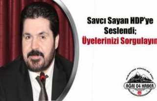 Savcı Sayan'dan HDP'ye Tefecilik İthamı