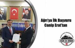 Canip Erat Ağrı Belediye Başkanlığı İçin Başvuru...