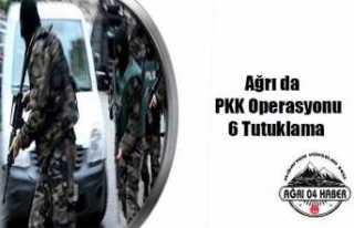 Ağrı da PKK/KCK ya  6 Tutuklama