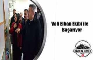 Vali Elban Ekibi ile Gururlandı