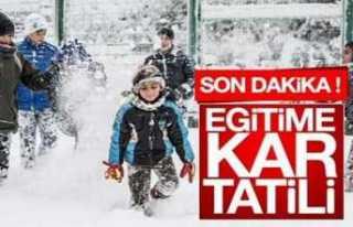 Eğitime Kar Tatili