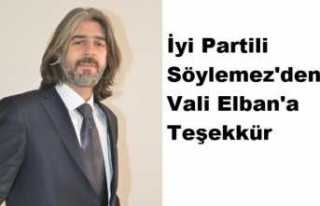 İyi Partili Söylemez'den Vali Elban'a...