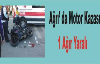 Ağrı da Kaza 1 Yaralı