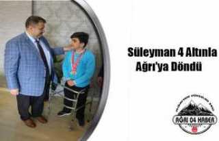 Ağrılı Sporcu'dan 4 Türkiye Birinciliği
